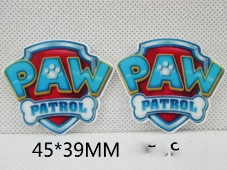 5 x 45mm PAW PATROL LASER CUT FLAT BACK RESIN HEADBANDS BOWS CARD MAKING PLAQUES
